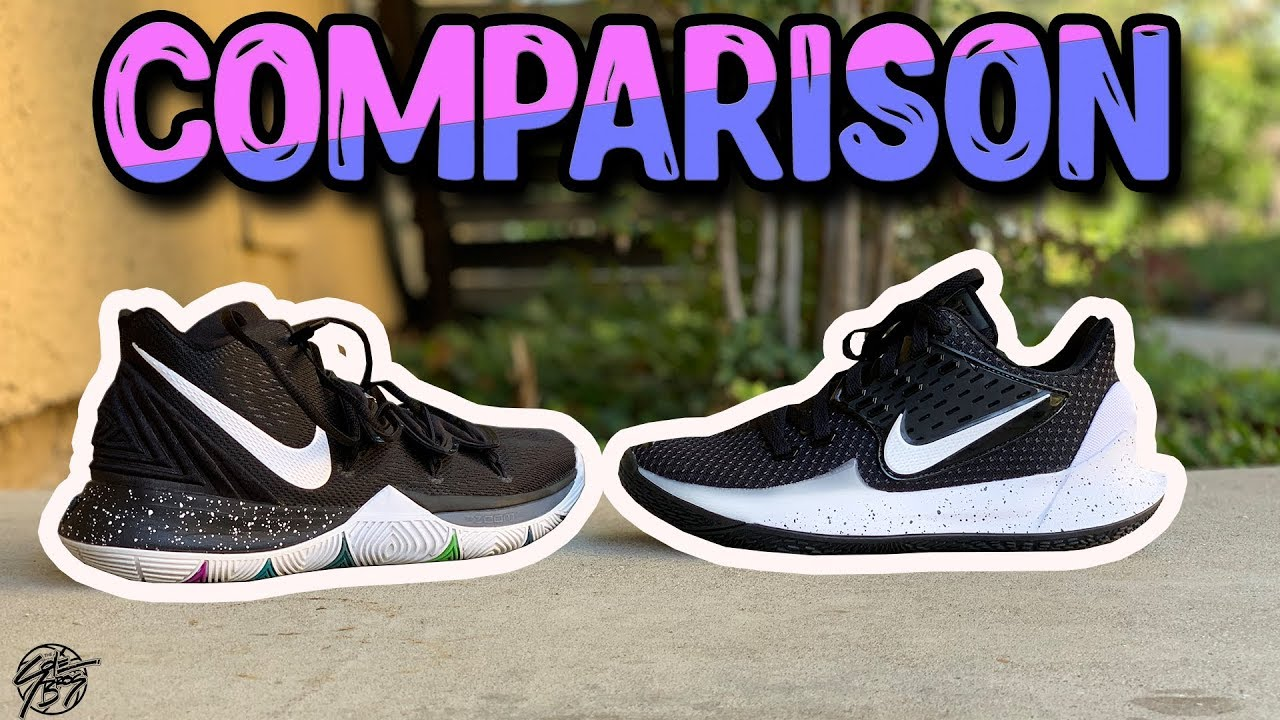 check out 57c9e 4878d Nike Kyrie 5 & Kyrie LOW 2 Detailed Comparison!