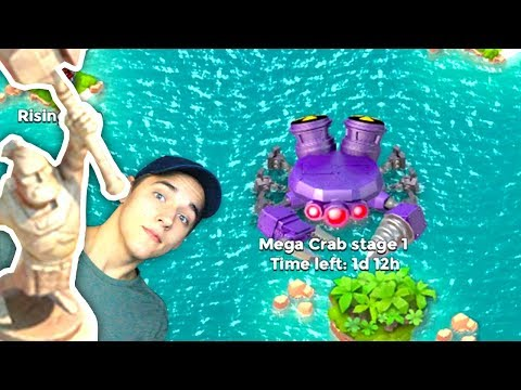 THE FIRST MEGA CRAB!! Boom Beach Starting Over #8!