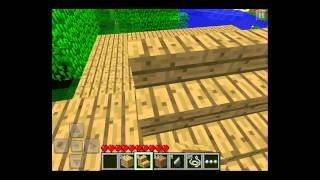 let s play minecraft pocket edition ipod ipad iphone android episode 2