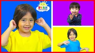 Body Parts Exercise Songs for Children with Ryan ToysReview! thumbnail