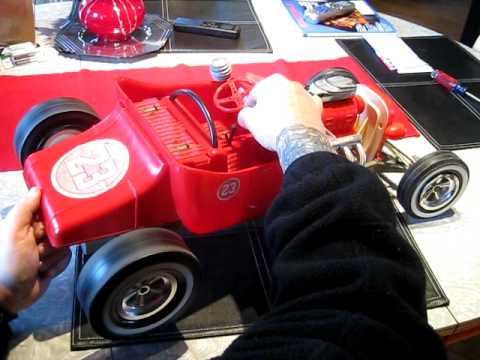 marx big red hot rod toy youtube. Black Bedroom Furniture Sets. Home Design Ideas