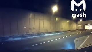 Смотреть видео ДТП в Гагаринском тоннеле онлайн