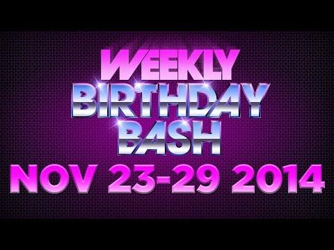 Celebrity Actor Birthdays - November 23-29, 2014 HD
