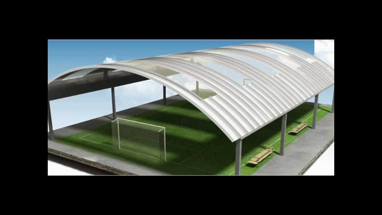 Techos sin estructura techos curvos techos for Como poner chirok en el techo