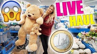 Ich kaufe nachts alleine einen 1 EURO SHOP leer 😱 LIVE HAUL | XLAETA