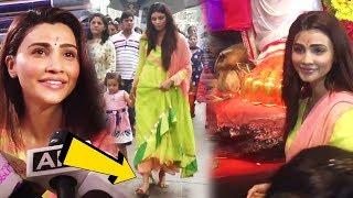 Salman Khan's GIRL Daisy Shah WALKS WITHOUT SANDALS Till Lalbaugcha Raja GANPATI | Before Visarjan