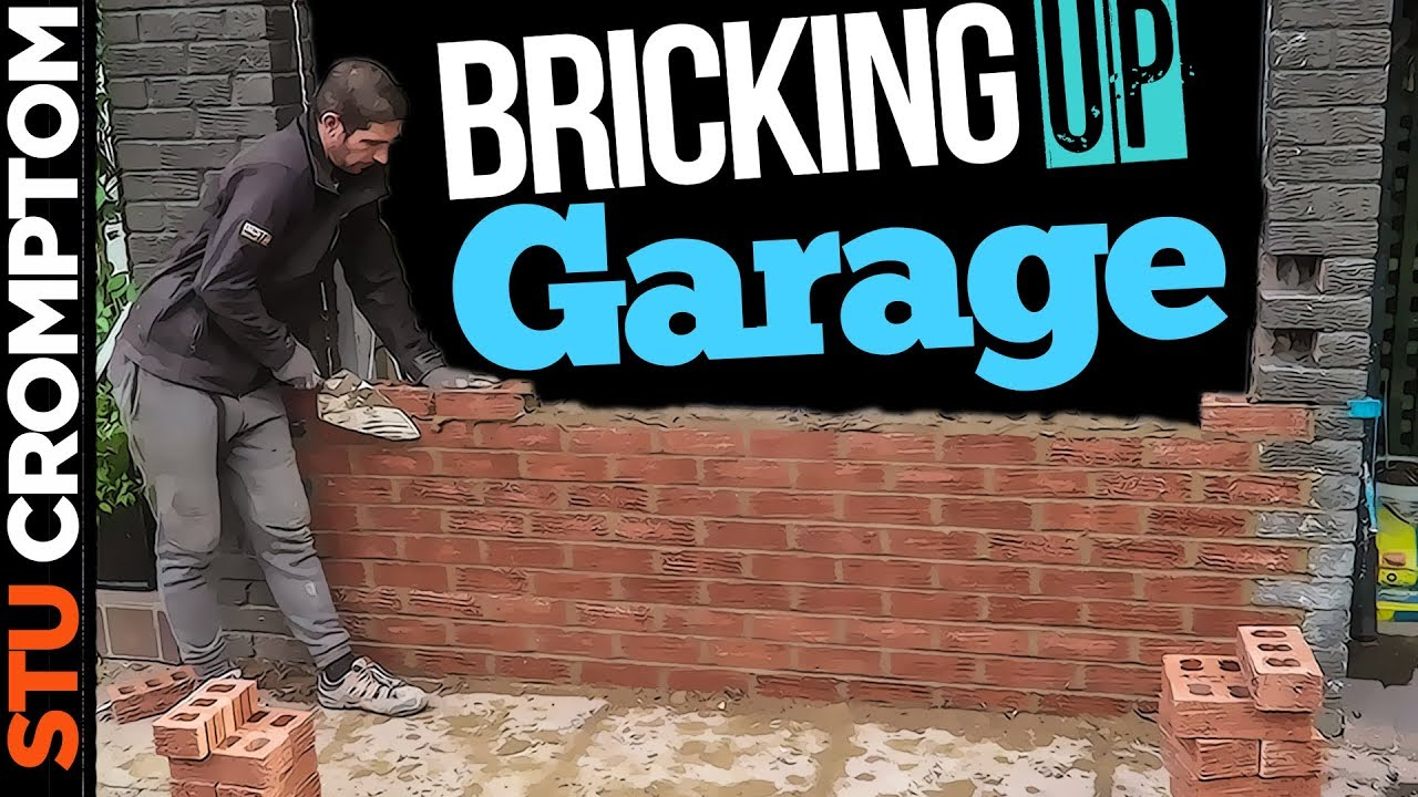 How To Brick Up Garage Door Opening Into Window