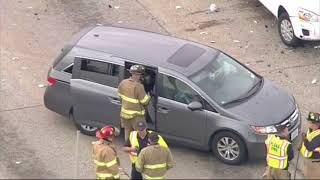 Chase of DWI suspect ends in crash involving school bus