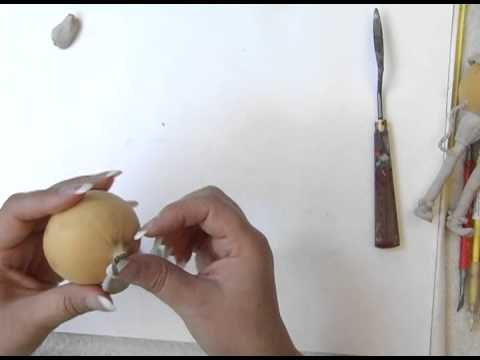 Sculpting and Gourd Art - using QuikWood Clay on Gourds