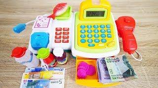 Mainan kasir kasiran pakai uang beneran - Real Cash register