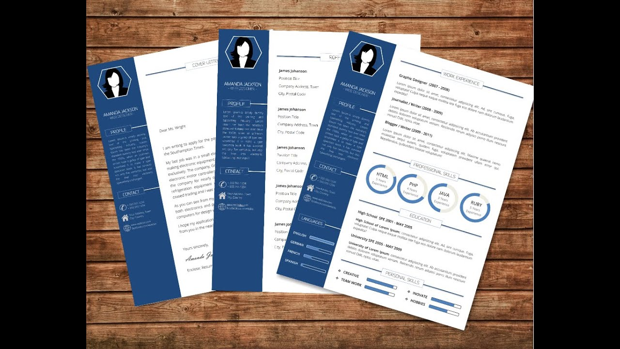 MS Word Resume and Cover Letter Template - YouTube