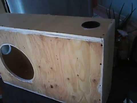 Construccion de un cajon para subwoofer construction of a box for subwoofer part 1 youtube - Cajon para subwoofer ...