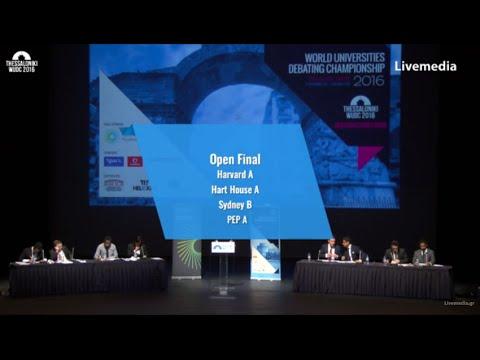 Thessaloniki WUDC 2016 - Finals | Open Final