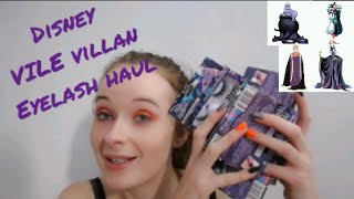 DISNEY VILE VILLANS EYELASH COLLECTION HAUL!!!