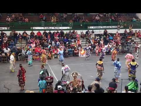 Jingle dress special at Flagstaff High School Pow Wow 2018