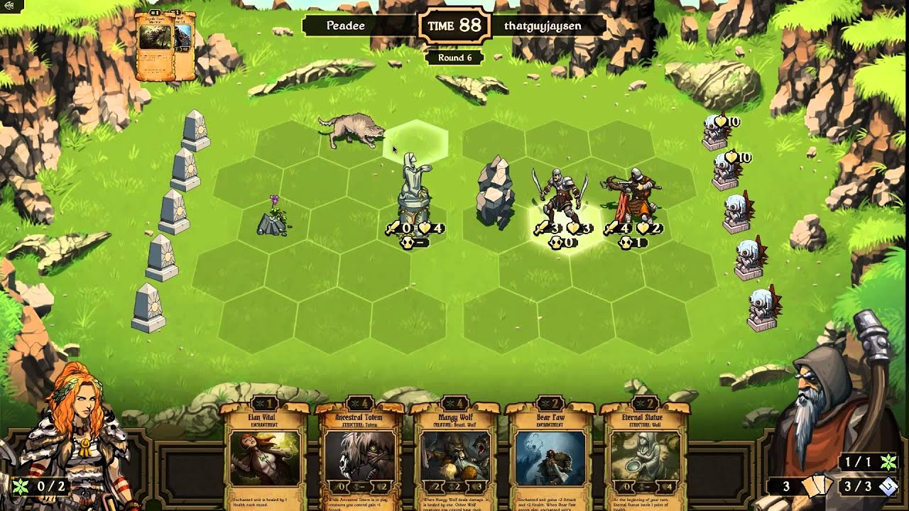 First Look At Scrolls Part 6 2 Player Matches Peadee