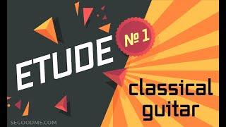 Гитара. Классика .Этюд № 1 ( ми минор ) для начинающих гитаристов.