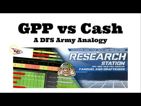 DFS Quick Tips - GPP vs Cash Lineup Building Advice for