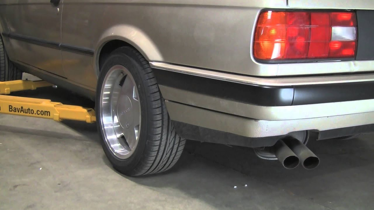Sound comparison magnaflow vs stock exhaust on a 1990 bmw 325i e30 youtube