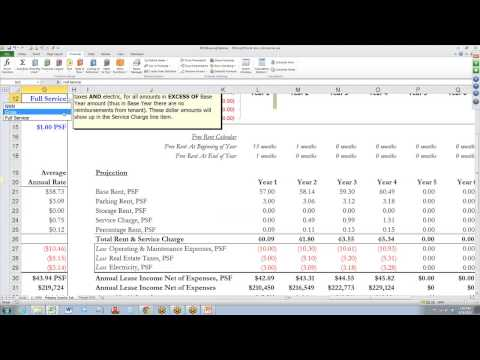 Commercial Real Estate Comparative Lease Analysis Video Tutorial