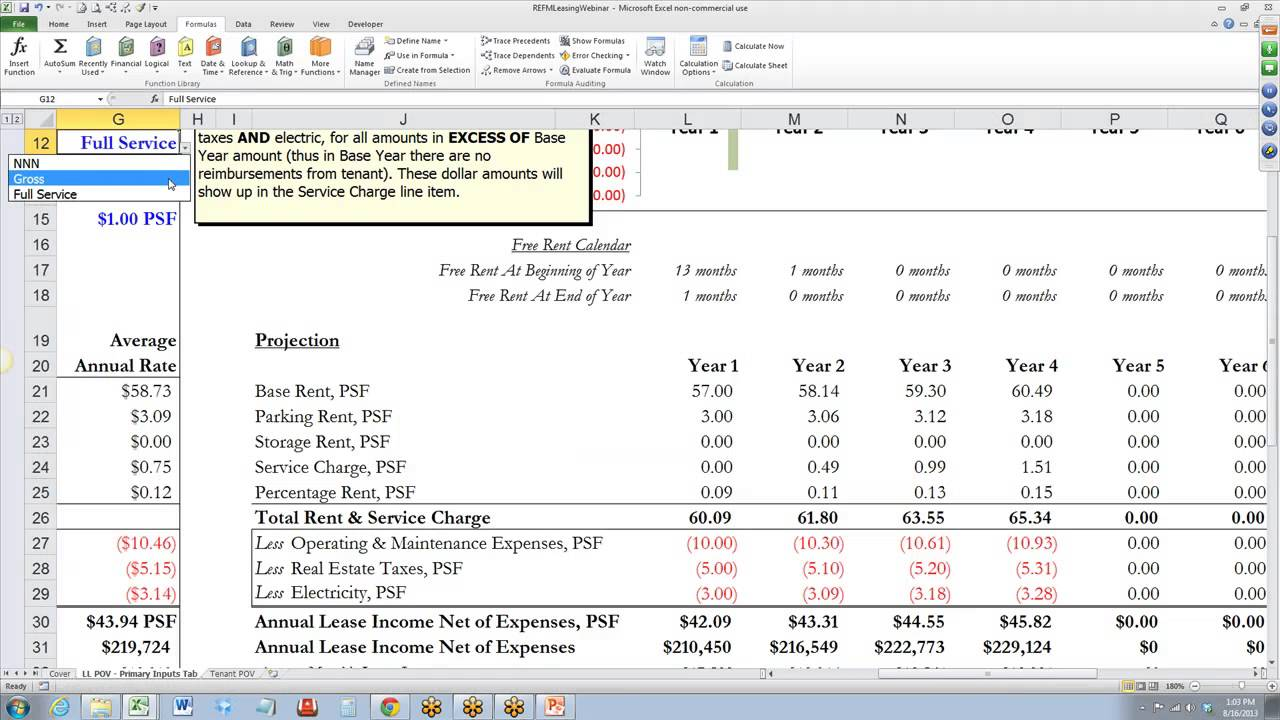 Commercial Real Estate Comparative Lease Analysis Video Tutorial ...
