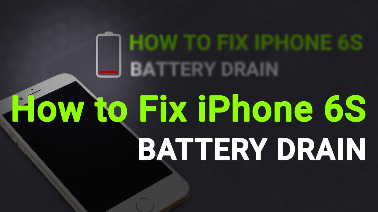 How To Fix Iphone Battery Drain Fast Problem Youtube