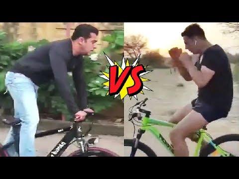 Salman Khan Cycle Stunt V/S Akshya Kumar Cycle Stunt
