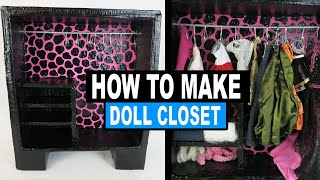 Doll Craft | How To Make A Doll Closet & Hangers