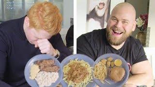 Försöker äta som Sveriges starkaste man på en dag