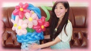 DIY Flower Balloon Art Tutorial - Gift idea for Mother's Day