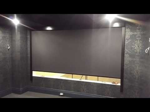 Smart Shades Systems — Home Theatre Room divider with full blackout
