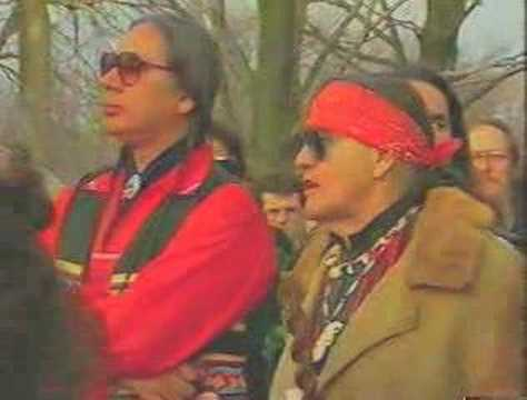 VERNON & MIKE HANEY RE-BURY THE ANCESTORS AT DIXON MOUNDS - AMERICAN INDIAN MOVEMENT