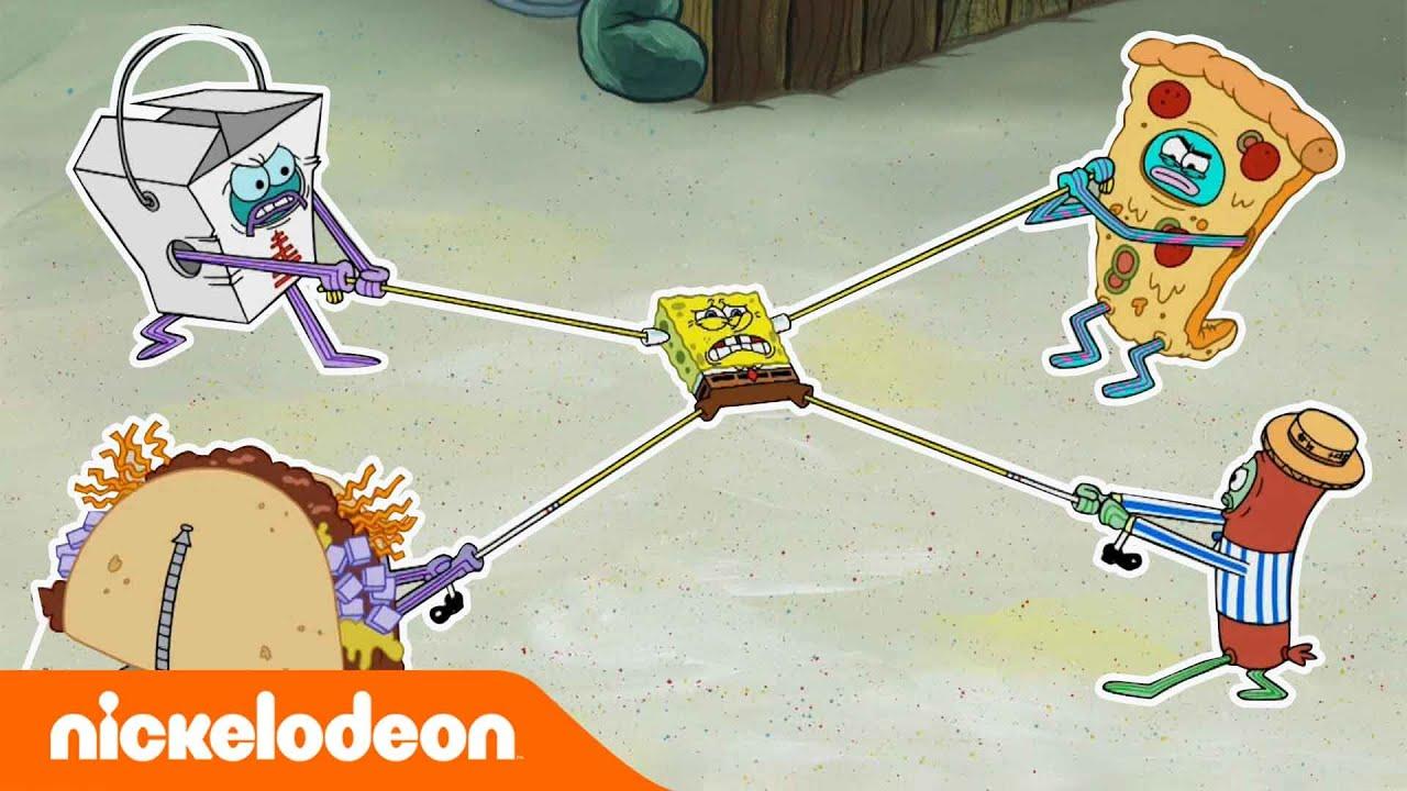 SpongeBob SquarePants | Eetgevecht | Nickelodeon Nederlands