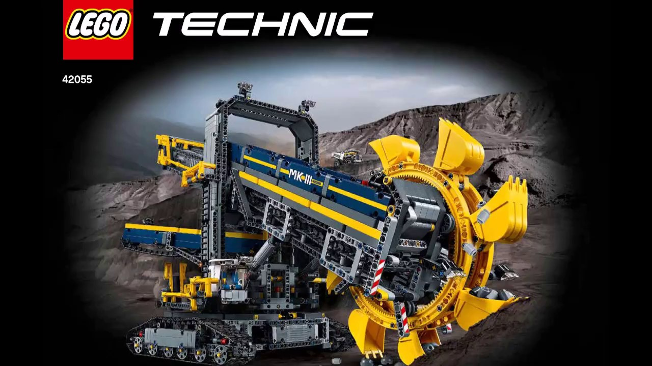 lego technic 42055 bucket wheel excavator instructions diy. Black Bedroom Furniture Sets. Home Design Ideas