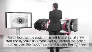 How to perform dynamic BBQ maneuver for left lateral canal BPPV with the TRV Chair - Interacoustics