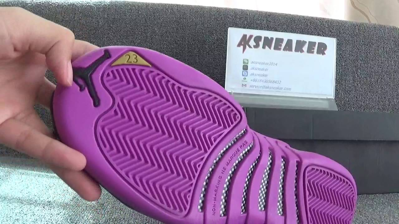 the latest 137a8 b894f Authentic Air Jordan 12 GS Hyper Violet from aksneaker cn