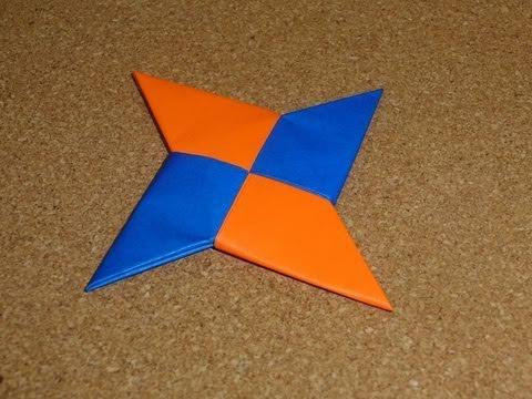 Daily Origami 068 Ninja Star Shuriken Youtube