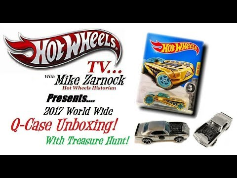 Unboxing Hot Wheels 2017 Q Case with Treasure Hunt & many New Castings!