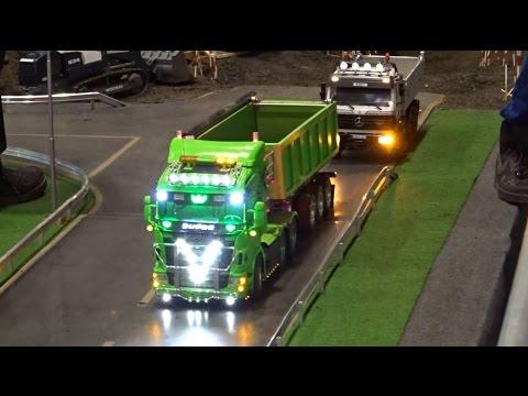 RC Trucks Bagger LKW Baustelle Raupe Modellbau ♦ Modell Süd Stuttgart 2016