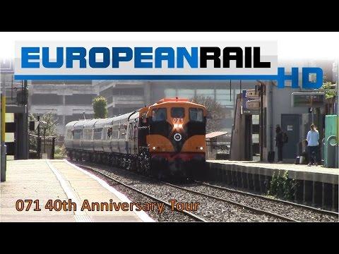Iarnród Éireann Irish Rail 071 Locomotive 071 CIE 40 Years Livery + Cravens pass Drumcondra