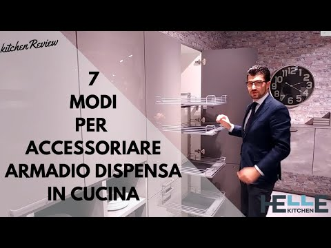 7 Modi per Accessoriare un Armadio a Colonna Dispensa in Una Cucina Moderna