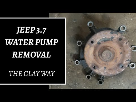 Jeep 3.7 water pump removal