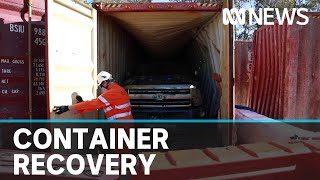 Sunken cargo containers retrieved two years after being lost at sea | ABC News