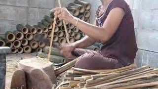 Thai Home Business_Chopping Bamboo