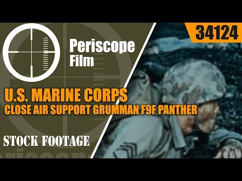 U.S. MARINE CORPS AND CLOSE AIR SUPPORT GRUMMAN F9F PANTHER 34124
