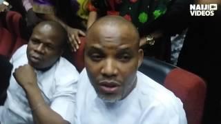 Nnamdi Kanu speaks in court