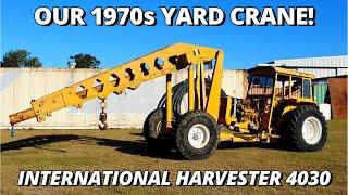 Our 1970s International 4030 Yard Crane Tractor | Workshop Machinery
