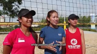 Eliza Chong and Ong Wei Yu Beach Volleyball: Sport Singapore ambassadors