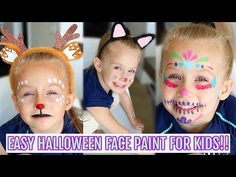 3 Easy Halloween Face Paint Ideas For Kids!