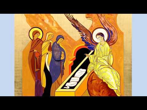 PREGÓN PASCUAL (con Imágenes Santo Sepulcro / Iconos Kiko Arguello)